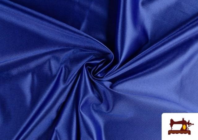 Tissu Satiné avec Mousse couleur Gros bleu