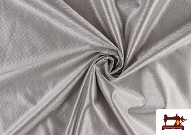 Vente de Tissu Satiné avec Mousse couleur Gris