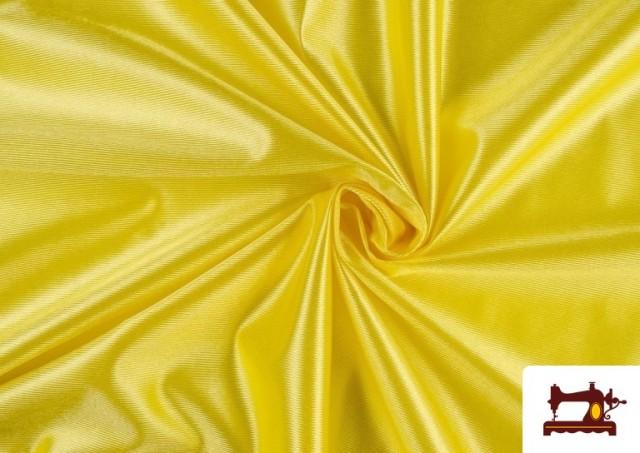 Tissu Satiné avec Mousse couleur Jaune