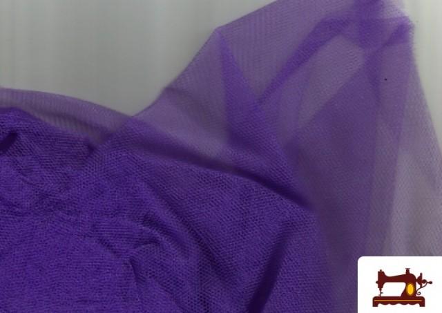 Vente en ligne de Tissu en Tulle pour Évènements et Décoration couleur Violet foncé