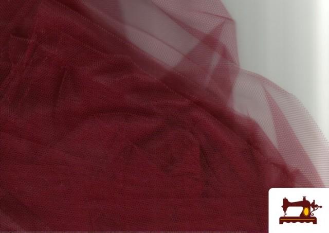Tissu en Tulle pour Évènements et Décoration couleur Grenat