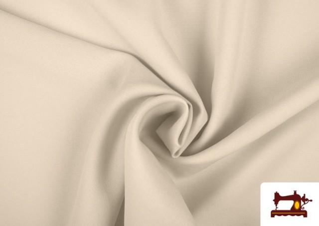 Tissu en Stretch Économique de Couleurs couleur Écru