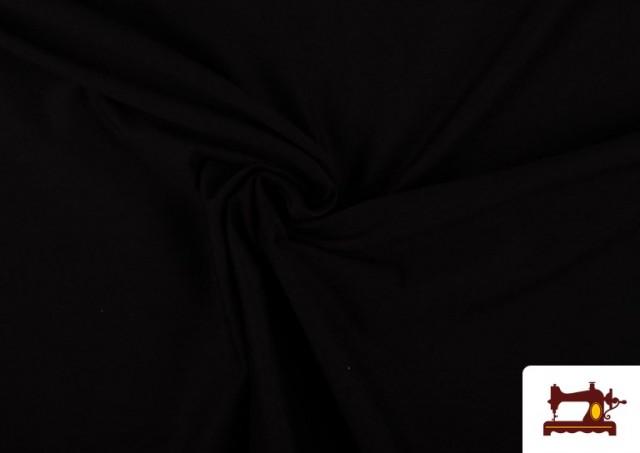 Vente en ligne de Tissu en Stretch Économique de Couleurs couleur Noir
