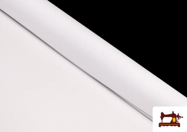 Acheter en ligne Tissu en Stretch Économique de Couleurs couleur Blanc