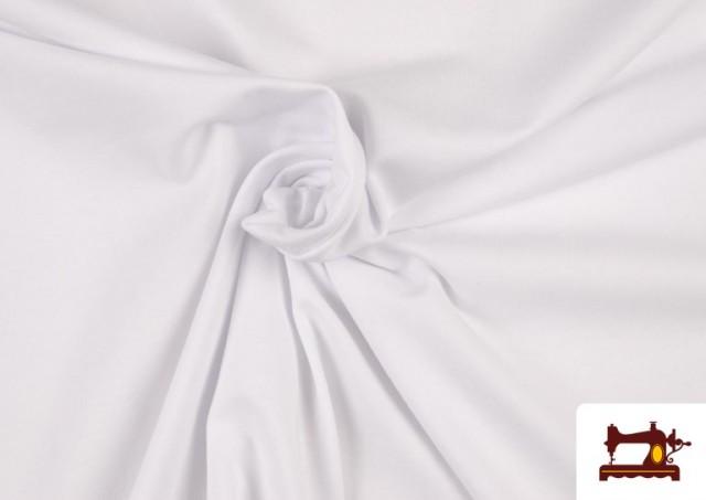 Vente en ligne de Tissu en Stretch Économique de Couleurs couleur Blanc
