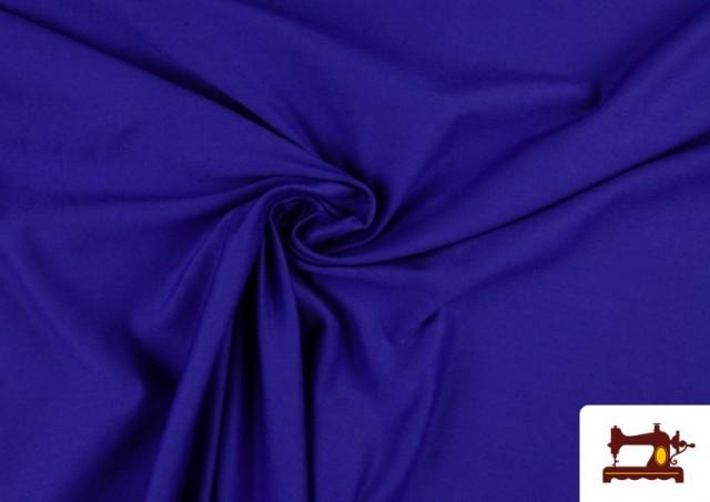 Tissu en Stretch Économique de Couleurs couleur Gros bleu