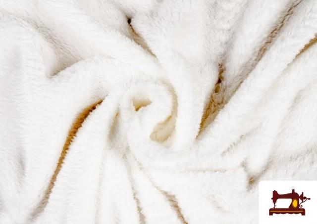 Vente de Tissu en Coraline de Couleurs couleur Blanc