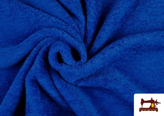 Tissu en Coraline de Couleurs couleur Gros bleu