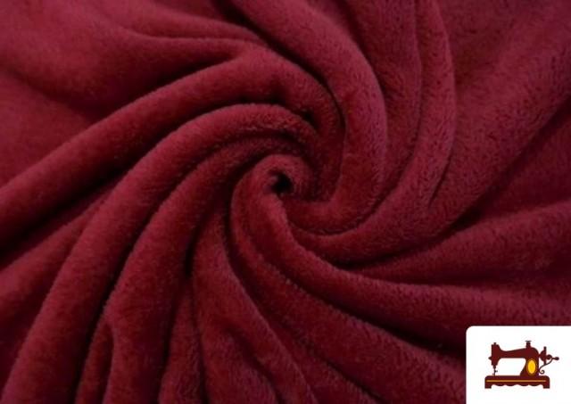 Vente de Tissu en Coraline de Couleurs couleur Grenat