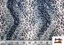Vente de Tissu à Poil Court Imprimé Léopard pour Costumes et Tapisserie couleur Gris