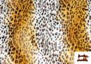 Vente en ligne de Tissu à Poil Court Imprimé Léopard pour Costumes et Tapisserie couleur Bronzé