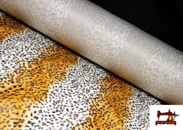 Acheter Tissu à Poil Court Imprimé Léopard pour Costumes et Tapisserie couleur Bronzé