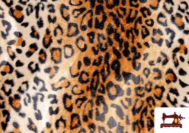 Vente de Tissu à Poil Court Imprimé Léopard pour Costumes et Tapisserie couleur Brun