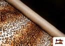 Vente en ligne de Tissu à Poil Court Imprimé Léopard pour Costumes et Tapisserie couleur Brun