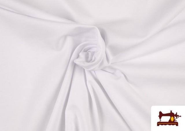 Acheter Tissu de Tee-Shirt de Couleurs couleur Blanc