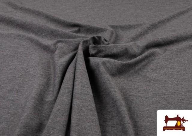 Vente en ligne de Tissu de Tee-Shirt de Couleurs couleur Gris foncé