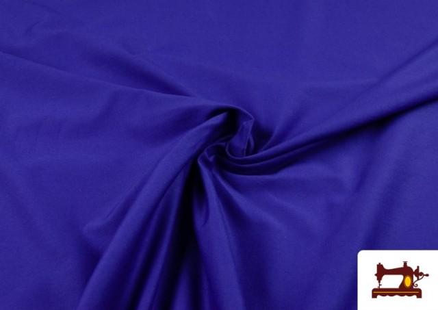 Tissu de Tee-Shirt de Couleurs couleur Gros bleu