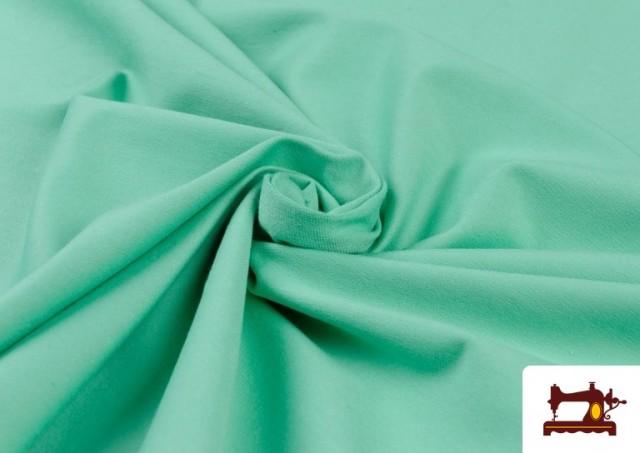 Tissu de Tee-Shirt de Couleurs couleur Vert menthe