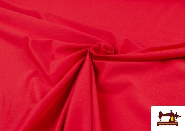 Acheter en ligne Tissu de Tee-Shirt de Couleurs couleur Rouge