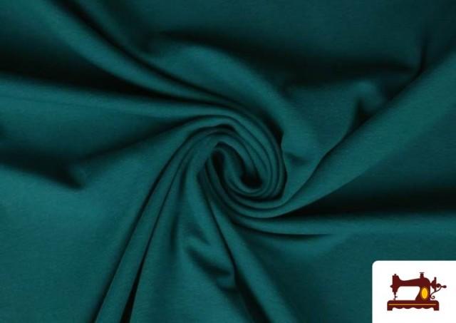 Tissu de Tee-Shirt de Couleurs couleur Vert Pétrole