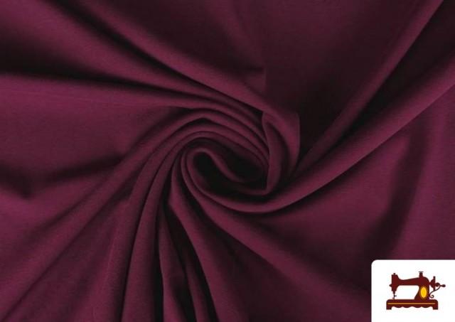 Acheter Tissu de Tee-Shirt de Couleurs couleur Grenat