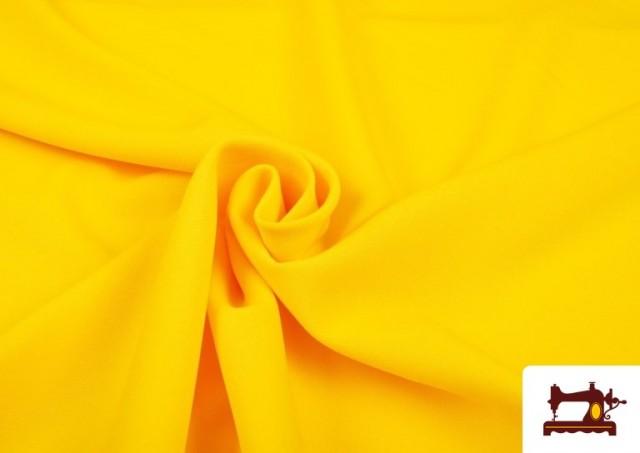 Acheter en ligne Tissu de Tee-Shirt de Couleurs couleur Jaune