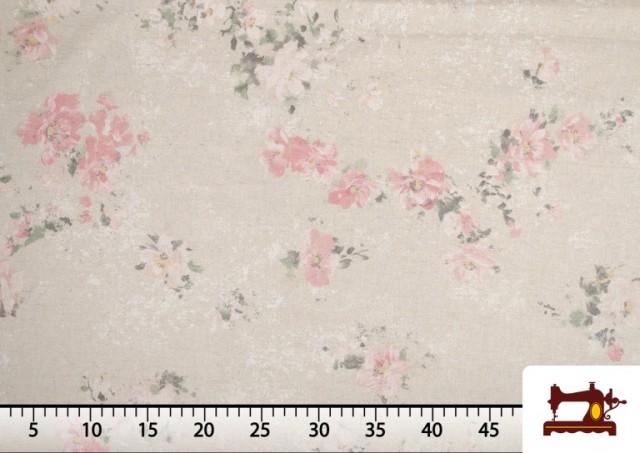 Vente de Tissu Vintage avec Imprimé Floral Coordonné Grand