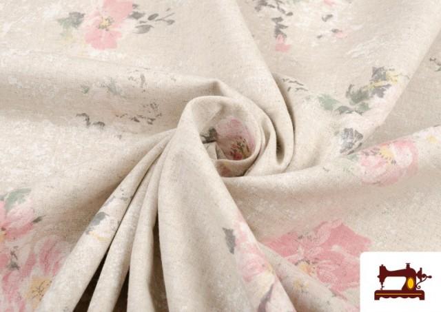 Tissu Vintage avec Imprimé Floral Coordonné Grand