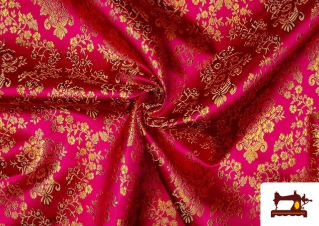 Acheter Tissu en Jacquard avec Fleurs Dorées