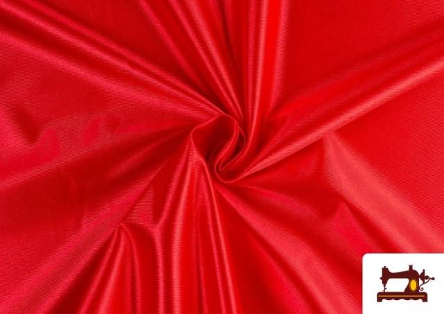 Acheter Tissu Satiné/Ketten de Couleurs couleur Rouge