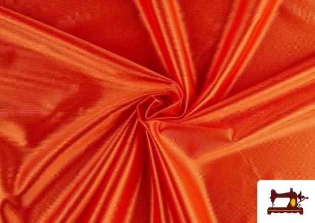 Acheter en ligne Tissu Satiné/Ketten de Couleurs couleur Orange