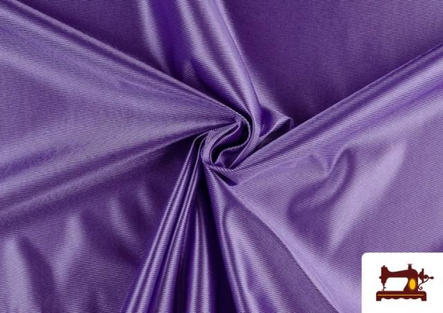 Tissu Satiné/Ketten de Couleurs couleur Violet