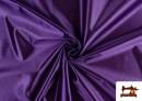 Tissu Satiné/Ketten de Couleurs couleur Violet foncé