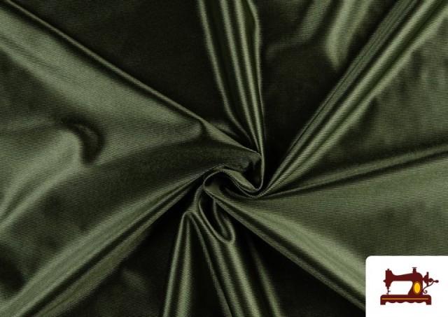 Tissu Satiné/Ketten de Couleurs couleur Vert Bouteille