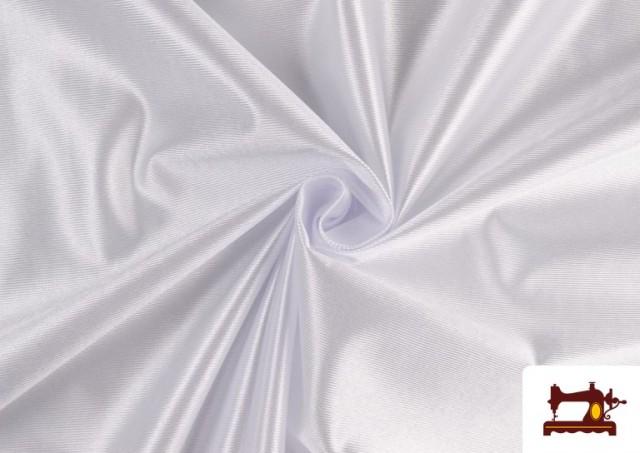 Vente de Tissu Satiné/Ketten de Couleurs couleur Blanc