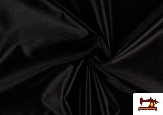 Acheter en ligne Tissu Satiné/Ketten de Couleurs couleur Noir