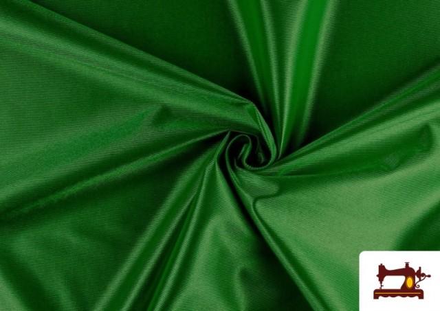Tissu Satiné/Ketten de Couleurs couleur Vert