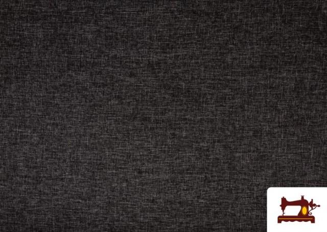 Vente de Tissu pour Tapisserie Tissé Bicolore couleur Gris foncé