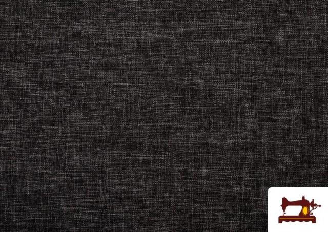 Acheter en ligne Tissu pour Tapisserie Tissé Bicolore couleur Gris foncé
