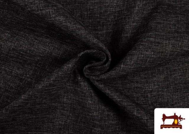 Vente en ligne de Tissu pour Tapisserie Tissé Bicolore couleur Gris foncé