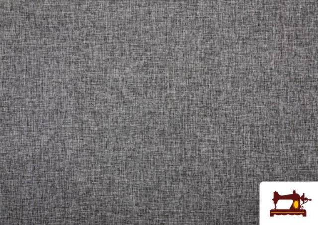 Tissu pour Tapisserie Tissé Bicolore couleur Gris clair