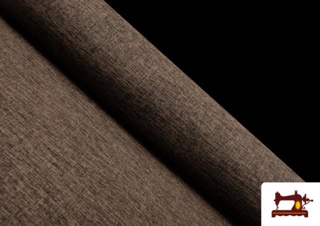 Acheter en ligne Tissu pour Tapisserie Tissé Bicolore couleur Brun