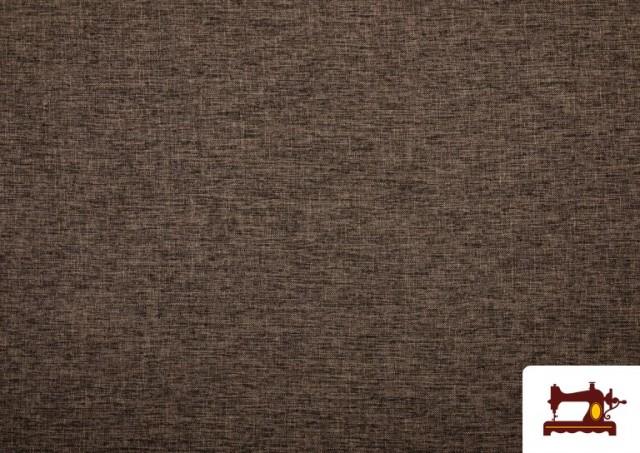 Vente en ligne de Tissu pour Tapisserie Tissé Bicolore couleur Brun