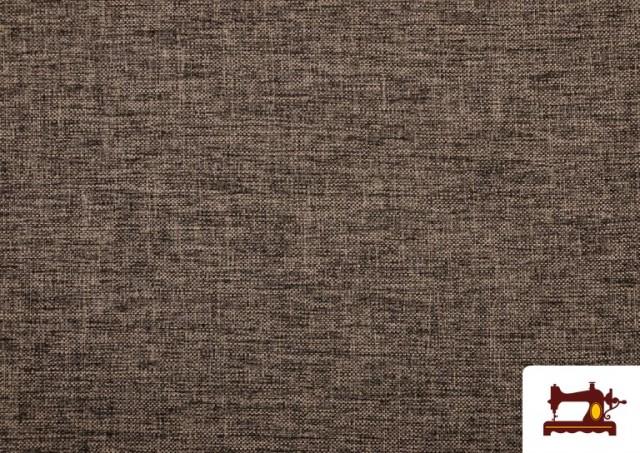 Tissu pour Tapisserie Tissé Bicolore couleur Brun