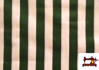 Tissu à Rayures Vertes Type Store