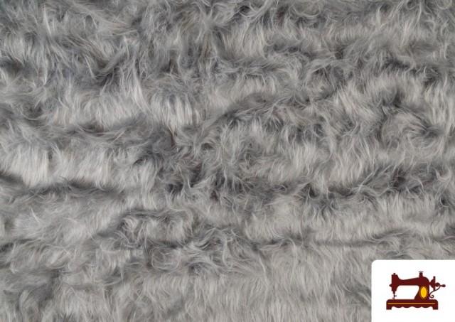 Vente de Tissu à Poil Long de Couleurs couleur Gris