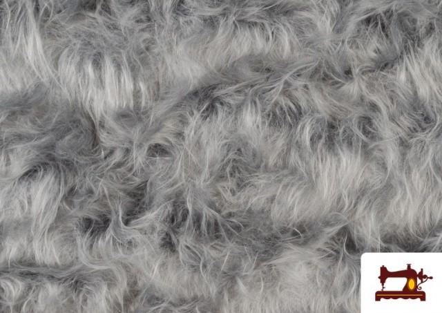 Acheter en ligne Tissu à Poil Long de Couleurs couleur Gris