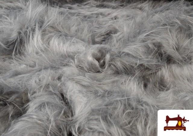 Vente en ligne de Tissu à Poil Long de Couleurs couleur Gris