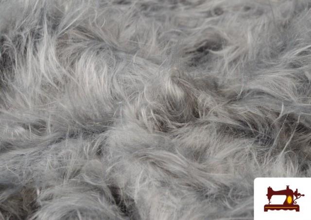 Acheter Tissu à Poil Long de Couleurs couleur Gris