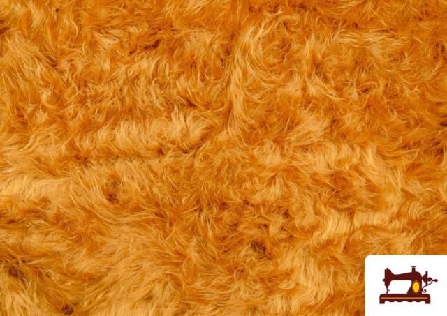 Vente de Tissu à Poil Long de Couleurs couleur Moutarde